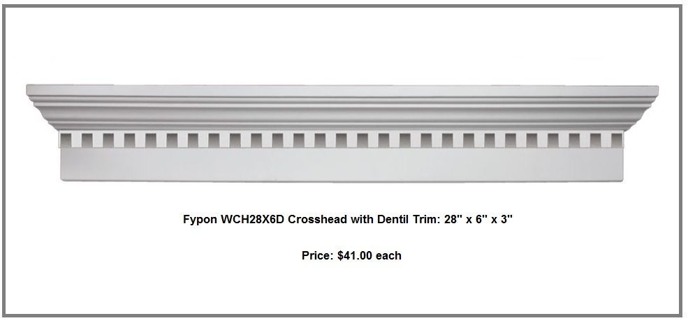 Specials for trim siding decking cleveland lumber co for Fypon crosshead